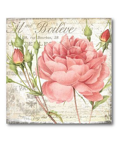 Take a look at this Shabby Chic Roses II Canvas Wall Art by COURTSIDE MARKET on #zulily today!