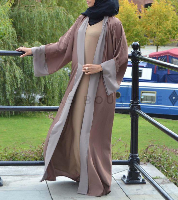 Mocha & Nude Twin Set Abaya