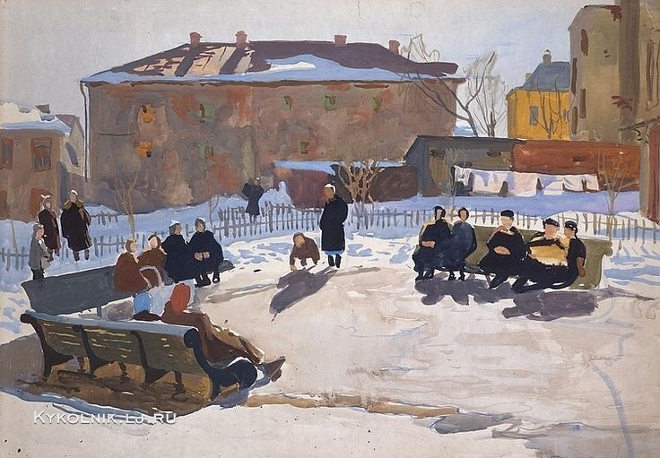 1960 год Попков Виктор Ефимович (Россия, 1932 -1974) «Весна»
