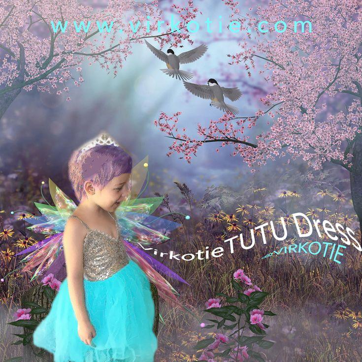 VirkotieAQUA Tutu Dress @VIRKOTIE (Baby/Children Sizes 0-7yrs) www.virkotie.com