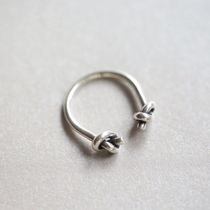 2016 Yeni Orijinal Knot 925 Gümüş Açık Yüzükler Kadınlar Için Kişiselleştirilmiş Kız Ayar-gümüş-takı