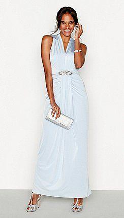 70ded5bf9e No. 1 Jenny Packham - Pale blue jersey  Jennifer  embellished maxi dress