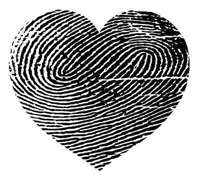 Fingerprint Heart - French Paper Images