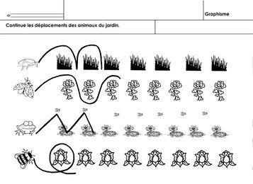 animaux du jardin, graphisme