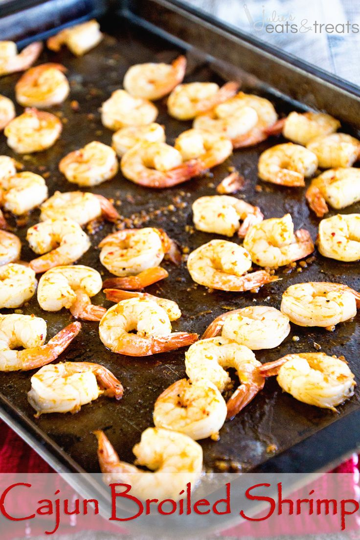 Cajun Broiled Shrimp Recipe ~ Quick, Easy Broiled Shrimp Perfect for a Light & Healthy Weeknight Dinner, Fancy Enough for Date Night and Delicious Enough for a Party Appetizer! on MyRecipeMagic.com