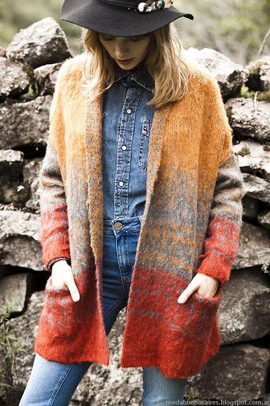 Sacos otoño invierno 2015. Moda India Style invierno 2015.