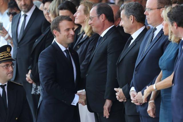 François Hollande, Nicolas Sarkozy et le prince Albert de Monaco étaient présents.