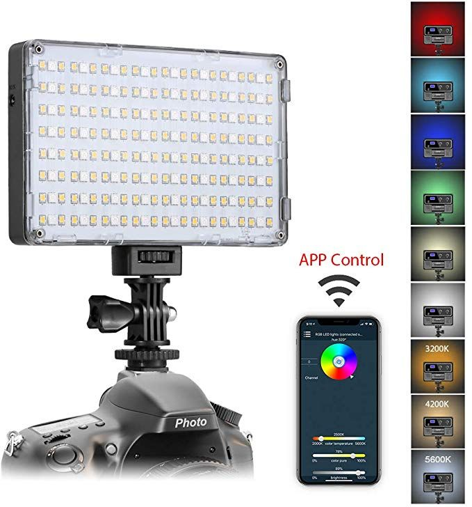 Gvm Rgb Luz Led Para Cámara Camera Photo Best Camera For Photography Photo Lighting Video Lighting