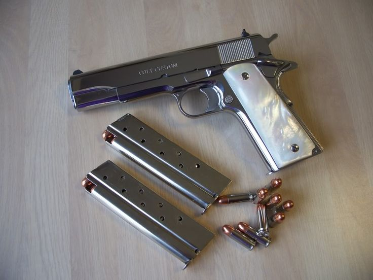 Bright Stainless Colt .38 Super- Someday I may just want one of these.