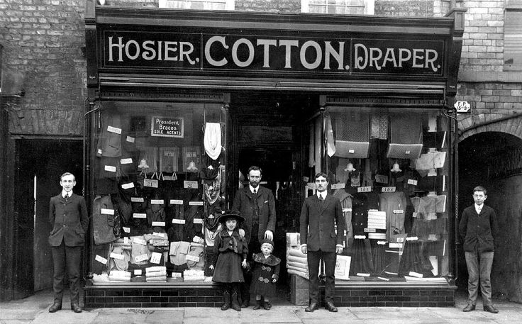 Yorkshire, Northallerton, High Street, Cotton's Hosiery Shop c1908