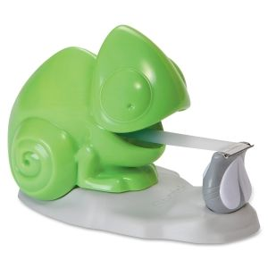 Chameleon Tape Dispenser YESSSS cute office supplies, green