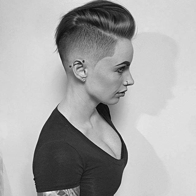 3625 Best Short Shaved Undercut Pixie Faux Hawk (been