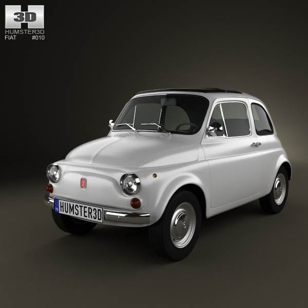 Fiat 500 1970 3d model from humster3d.com. Price: $75