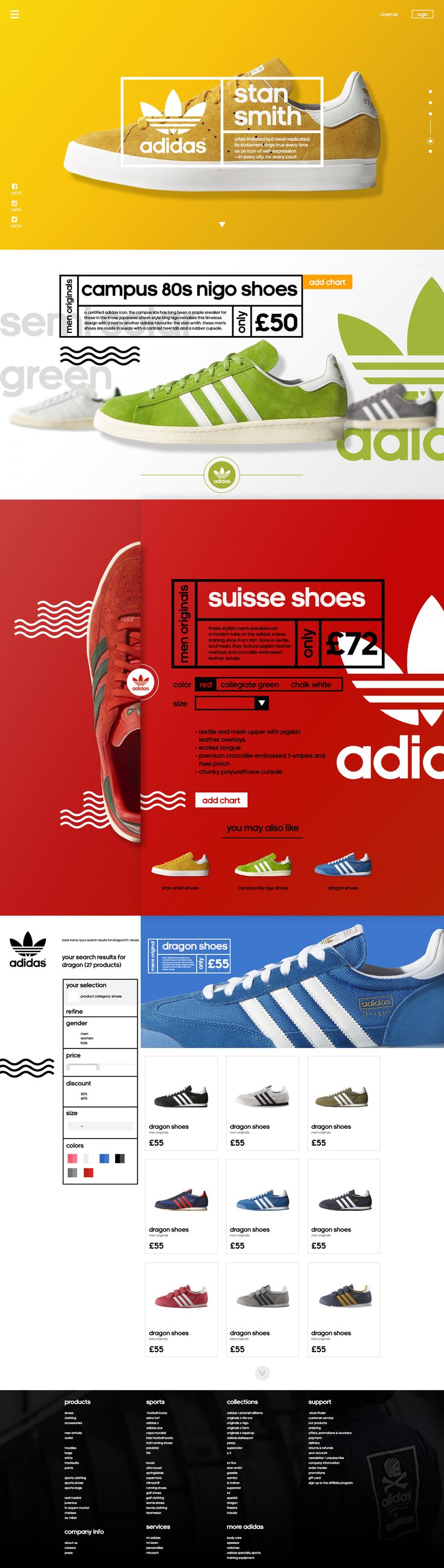Adidas - Redesign Concept This project is non-commercial purposes. All photos and videos used in the project belong to Adidas. I made just for fun and study :) check me on https://dribbble.com/nugrahajatiutama to see another shot #design #webdesign #UI/UX