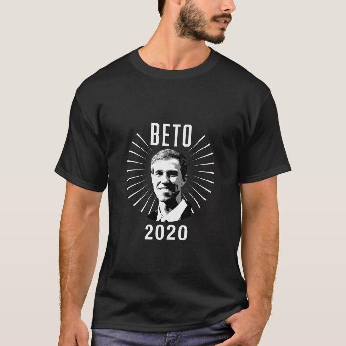 BETO 2020 Beto O'Rourke Stencil Style Dark T Shirt, Men's, Size: Adult S, Black