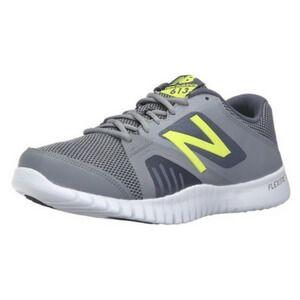 New Balance Men's 613v1 Cross Training Shoe, Grey/Yellow, 45 EU