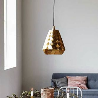 Brass Geo Light Pendant by House Doctor - House Junkie