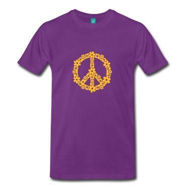 PEACE SYMBOL - simbolo di pace, c, symbol of freedom, flower power, hippie, 68er movement, Woodstock T-shirt