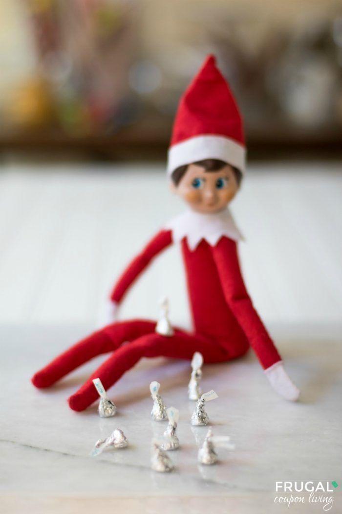 Elf on the shelf ideas elf on the shelf shelf ideas and for Elf on the shelf chocolate kiss