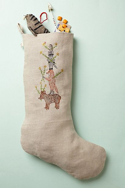 Embroidered Stocking   #anthropologie