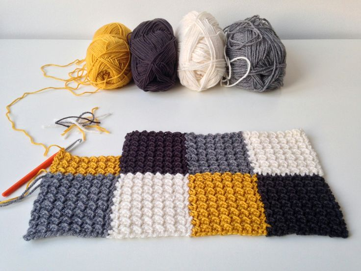 Free Knitting Pattern For Moss Stitch Baby Blanket : 304 best images about Haken - dekentjes on Pinterest ...