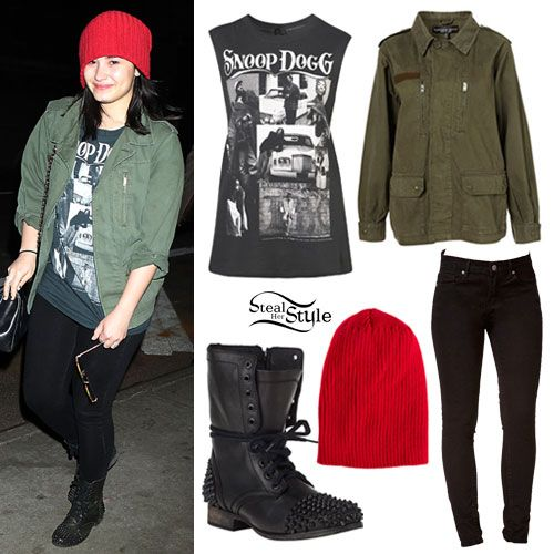 Demi Lovato Snoop Dogg Tee Outfit | Style Inspiration From Celebrities/TV/Movies/ETC ...