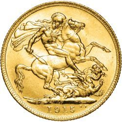 1915 King George V Perth Mint Gold Sovereign
