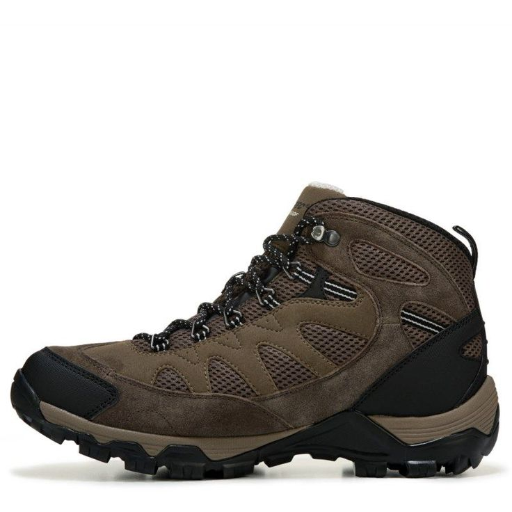 Hi-Tec Men's Riverstone Ultra Waterproof Hiking Boots (Brown/Olive/Snow)