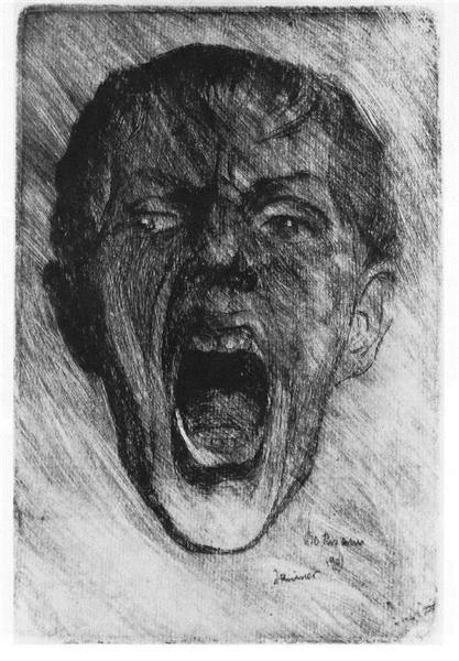 1901 Self-portrait - Max Beckmann. Titulo original: Selbstbildnis