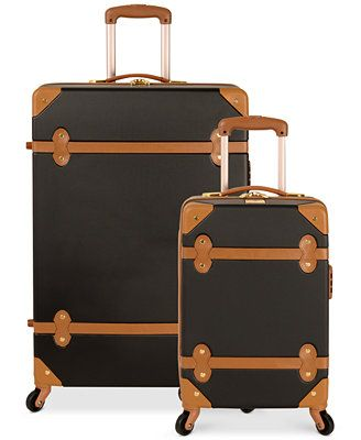 GIFTS FOR THE TRAVELER | Diane von Furstenberg Adieu Hardside Spinner Luggage from Macy's $149+