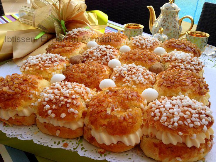 La Tarte Tropézienne Revisitée#crème patissiere#sucre perlé#brioche#dessert