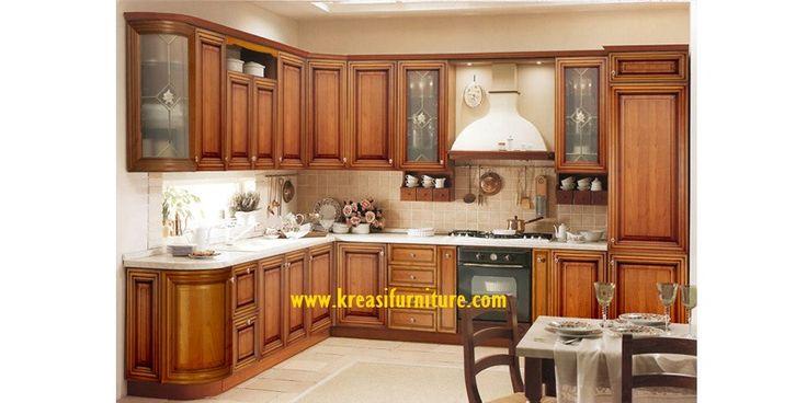 Kitchen Set Mewah Jati Jepara merupakan kitchen set dengan gaya minimalis mewah yang berbahan dasar kayu jati perhutani serta kontruksi yang kuat