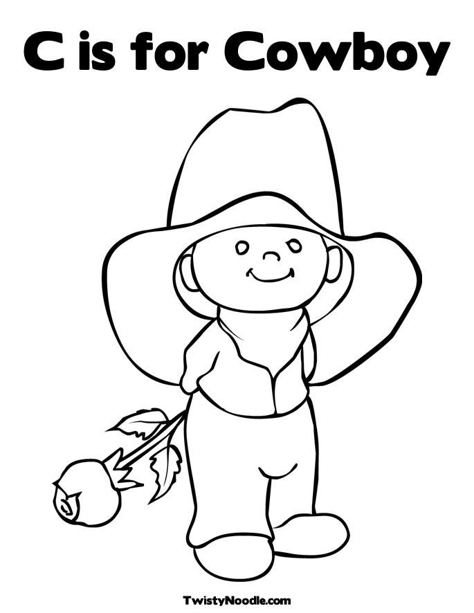 image detail for is for cowboy coloring page twisty noodle