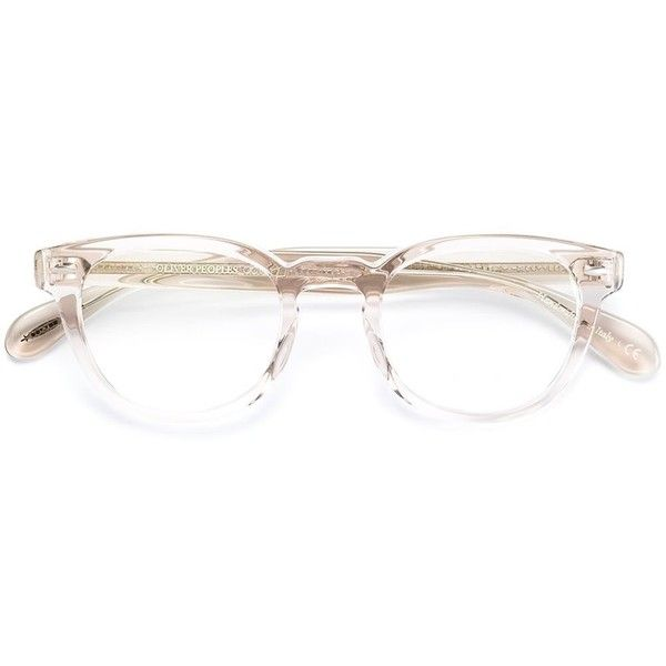Oliver Peoples 'Sheldrake' glasses ($380) ❤ liked on Polyvore featuring accessories, eyewear, eyeglasses, glasses, oliver peoples, oliver peoples eyeglasses, acetate glasses, oval glasses and transparent glasses