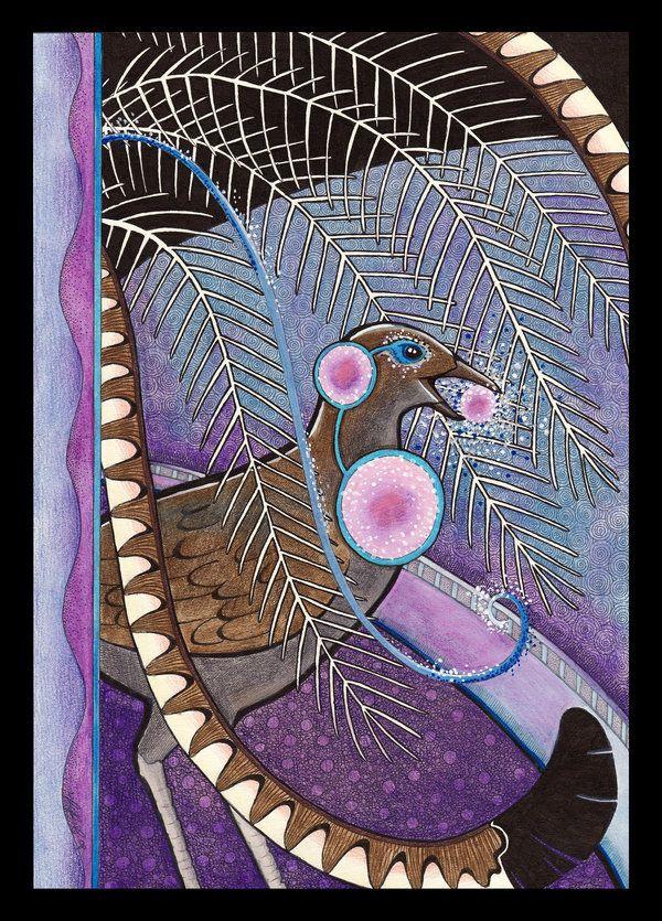 Lyrebird as Totem by Ravenari on DeviantArt