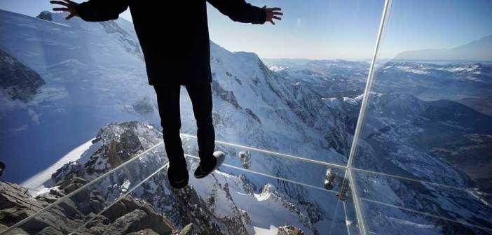 Step Into The Void, Aiguille du Midi, French Alps