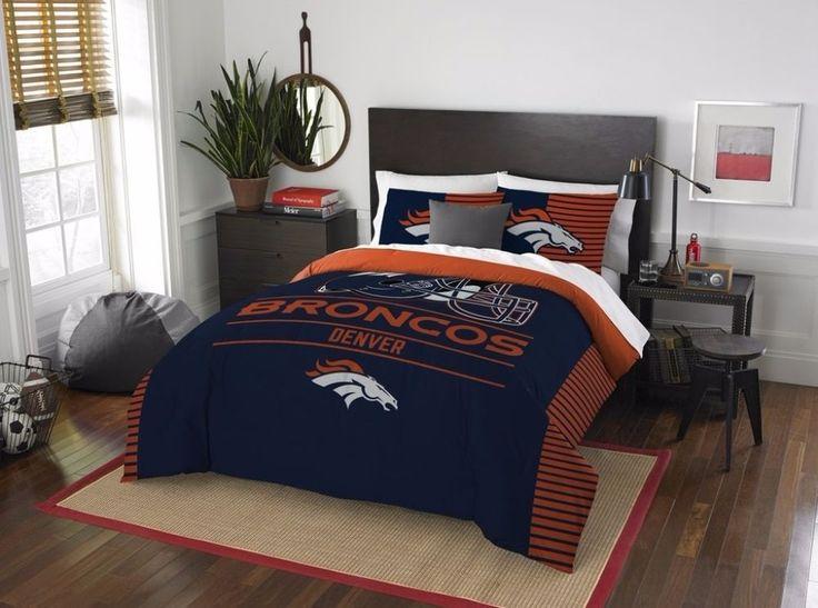 The Northwest Company NFL Denver Broncos Draft Full/Queen 3-Piece Comforter Set #TheNorthwestCo