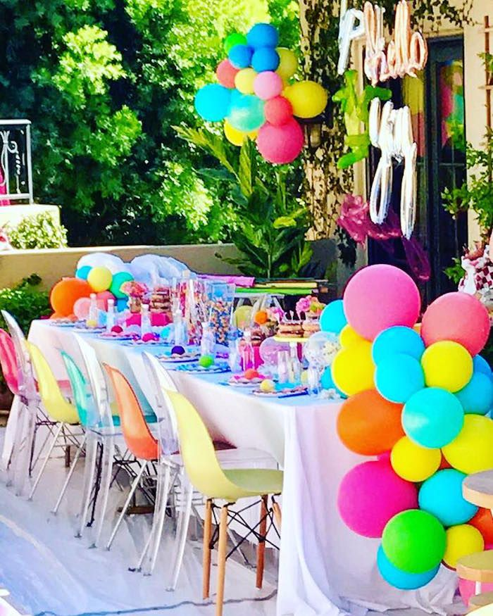 Colorful Modern 10th Birthday Party Girl Party Ideas 10th