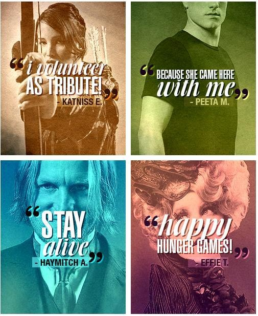 Katniss Everdeen, Peeta Mellark, Haymitch Abernathy, Effie Trinket, The Hunger…