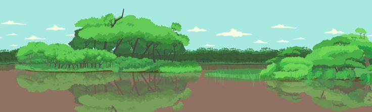 Fondo de Animación | Selva Misionera | Proyecto: Animales Argentinos | *Dibujo: Alejandra Cabeza *Pintura Digital: Verónica Aguirre