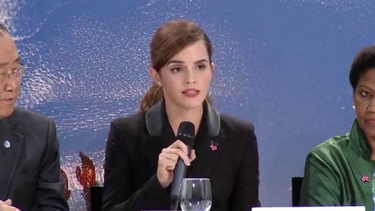 UN Women Goodwill Ambassador, Emma Watson, delivered another stirring speech encouraging world and corporate leaders to take action for gender equality during the kickoff of a HeForShe program launch at the World Economic Forum at Davos on January 23rd, 2015. AND http://youtu.be/c9SUAcNlVQ4