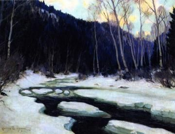 River Thaw Artwork by Clarence Gagnon
