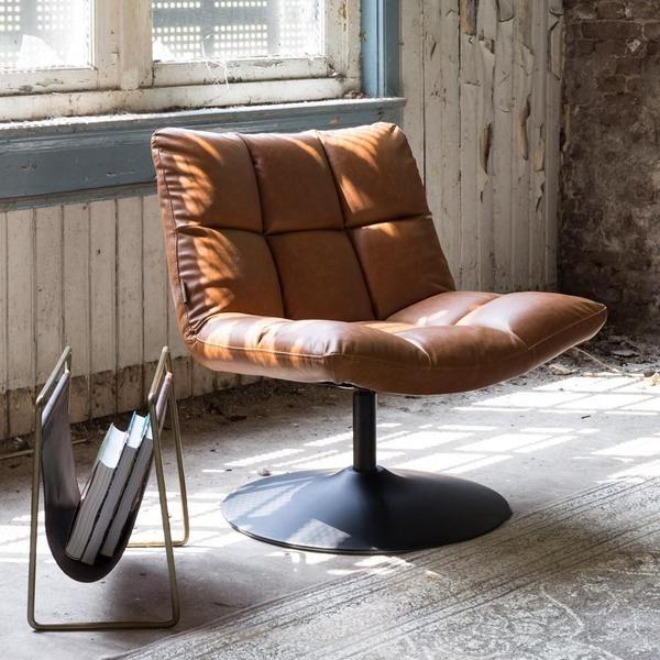 Lounge Stoel Retro.Dutchbone Bar Lounge Chair Vintage Brown In 2020 Contemporary