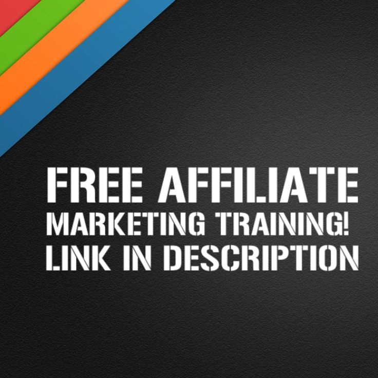 Free affiliate marketing training! Open to everyone! Get your place now!