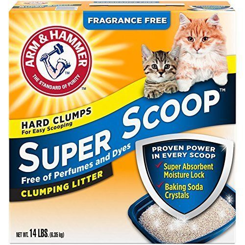 Arm-and-Hammer-Cat-Litter-14-Lb-Clumping-Fragrance-Free-Super-Scoop-for-Kitty