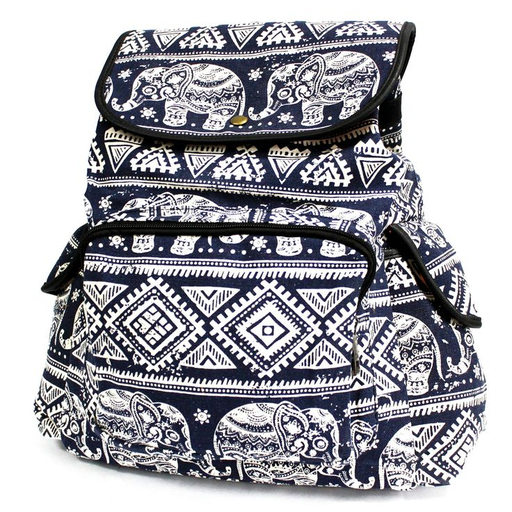 Traveler Backpacks - 3 Pocket Blue Elephant | Ancient Wisdom | Giftware Wholesale  Beautiful Blue Elephant Backpack with three external pockets for those small items and two internal pockets where one comes with a zipper. This backpack is very comfy and its good enough to carry all the school supplies.   #Wholesale_Backpacks #Wholesale_Bags #Backpacks #Traveller_Backpacks