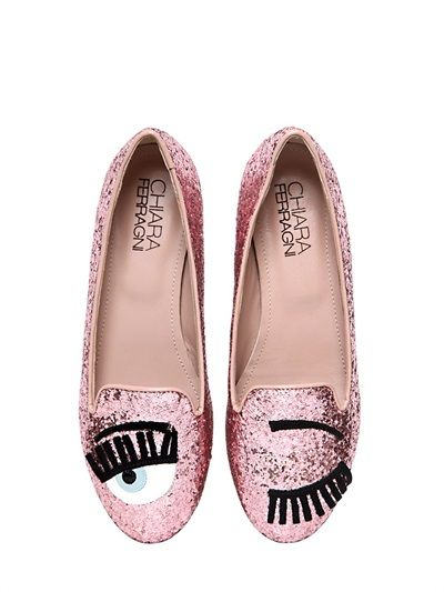 Pink glittered ballerinas Chiara Ferragni Buy Cheap Popular 100% Authentic Cheap Price Cheap Pre Order Outlet Manchester Cheap Sale 2018 New I8NpeDw4
