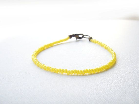#beaded #friendship #tiny #bracelet by juditpukkai  by juditpukkai Use coupon code on Etsy: PIN10 to get 10% discount :-)
