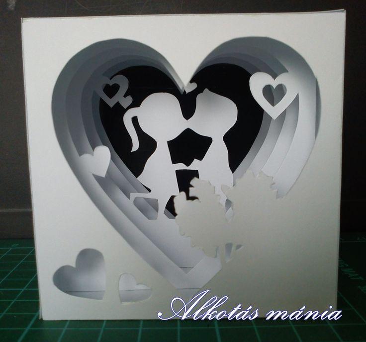 #3D##papír##kirigami##szerelem##ajándék##dísz##ünnep##alkotásmánia#