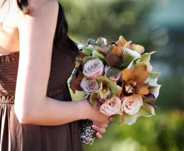 Russian Woman Flowers Chocolates